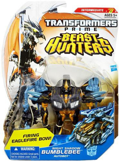 Transformers Prime Beast Hunters Night Shadow Bumblebee Deluxe Action Figure