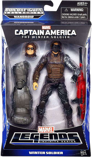 Captain America 2 The Winter Soldier Marvel Legends Mandroid Series 2 Winter Soldier Action Figure