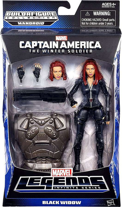 Captain America 2 The Winter Soldier Marvel Legends Mandroid Series 2 Black Widow Action Figure