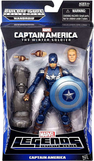 Captain America 2 The Winter Soldier Marvel Legends Mandroid Series 2 Captain America Action Figure