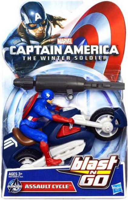 Captain America The Winter Soldier Blast N Go Assault Cycle 7-Inch Quick Launch Vehicle