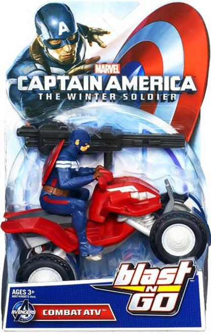 Captain America The Winter Soldier Blast N Go Combat ATV 7-Inch Quick Launch Vehicle