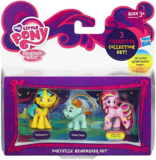 My Little Pony Friendship is Magic Character Collection Sets Ponyville Newsmaker Figure Set
