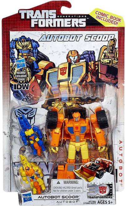 Transformers Generations 30th Anniversary Deluxe IDW Autobot Scoop Deluxe Action Figure