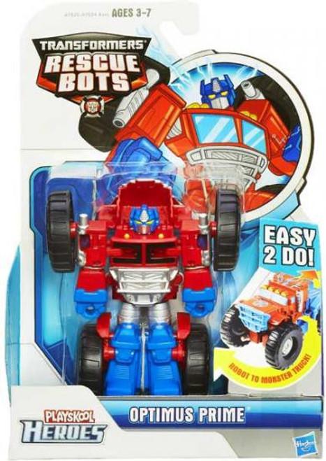 Transformers Playskool Heroes Rescue Bots Optimus Prime Action Figure [Monster Truck]