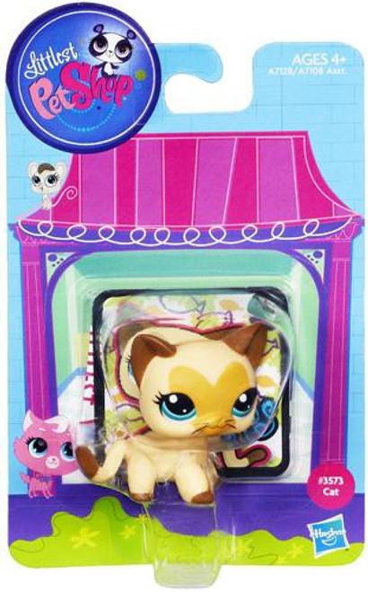 Littlest Pet Shop Bobble In Style Siamese Cat Figure #3573