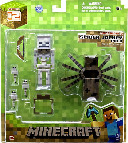 Minecraft Series 2 Spider Jockey Pack Action Figure Set [Overworld]