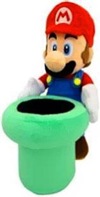 Super Mario Mario 9-Inch Plush [With Warp Pipe]