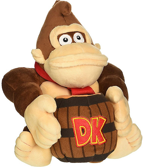 Super Mario Donkey Kong 8-Inch Plush [With Barrell]