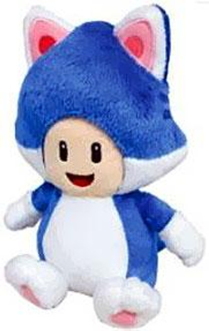 Super Mario 3D World Toad 8-Inch Plush [Cat]