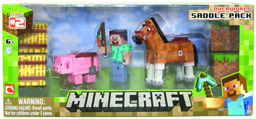 Minecraft Series 2 Saddle Pack Exclusive Action Figure Set [Overworld]