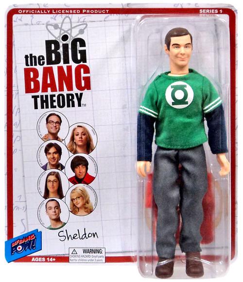 The Big Bang Theory Retro Style Sheldon Action Figure [Green Lantern & Flash Shirt]
