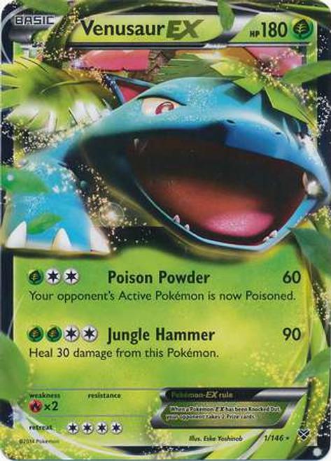 Pokemon Trading Card Game XY Base Set Ultra Rare Venusaur EX #1