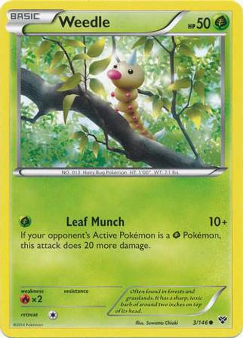 Pokemon Trading Card Game XY Base Set Common Weedle #3