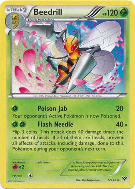Pokemon Trading Card Game XY Base Set Rare Beedrill #5