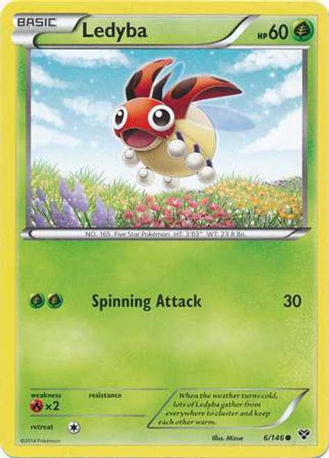 Pokemon Trading Card Game XY Base Set Common Ledyba #6