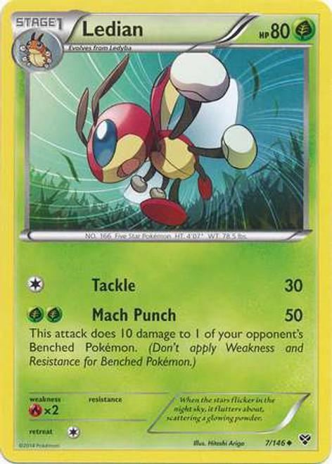 Pokemon Trading Card Game XY Base Set Uncommon Ledian #7