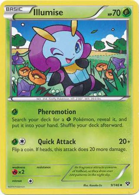 Pokemon Trading Card Game XY Base Set Uncommon Illumise #9
