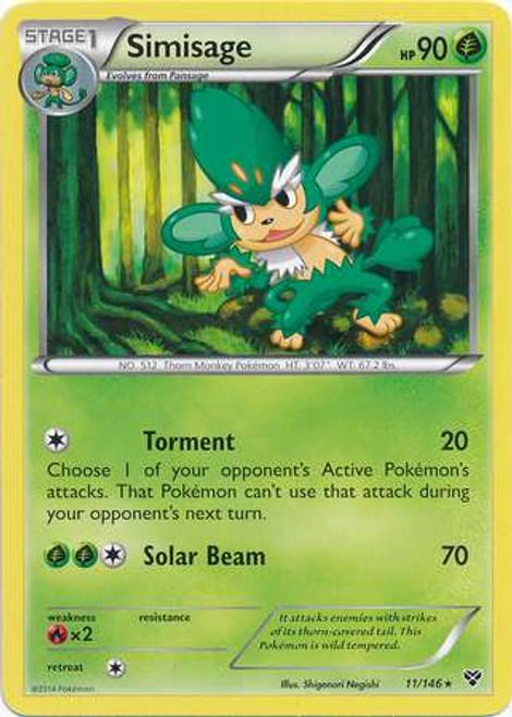 Pokemon Trading Card Game XY Base Set Rare Simisage #11