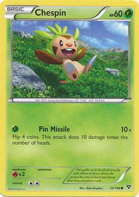 Pokemon Trading Card Game XY Base Set Common Chespin #12