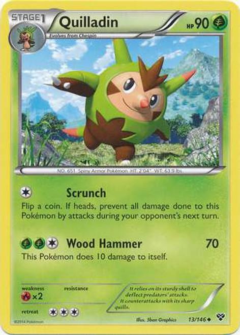 Pokemon Trading Card Game XY Base Set Uncommon Quilladin #13