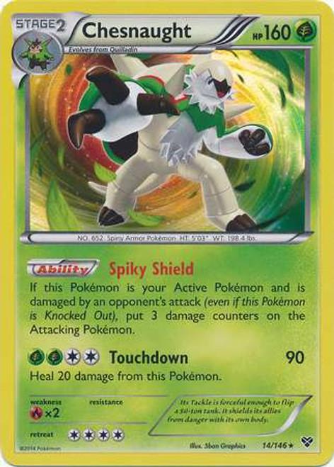Pokemon Trading Card Game XY Base Set Rare Holo Chesnaught #14