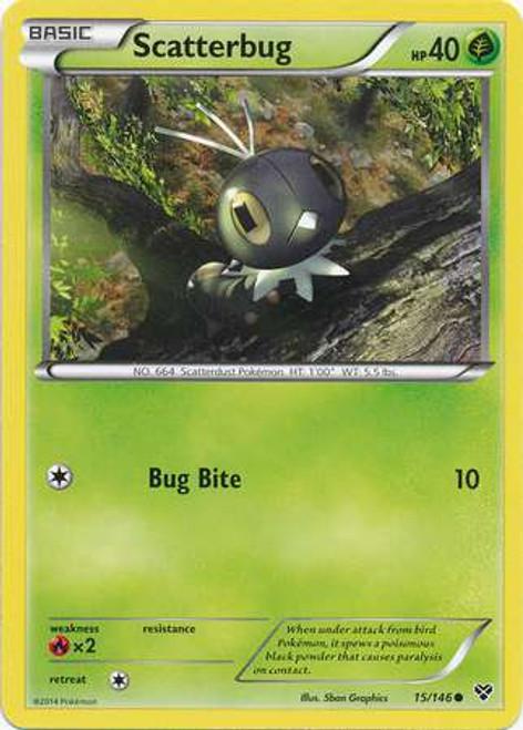 Pokemon Trading Card Game XY Base Set Common Scatterbug #15