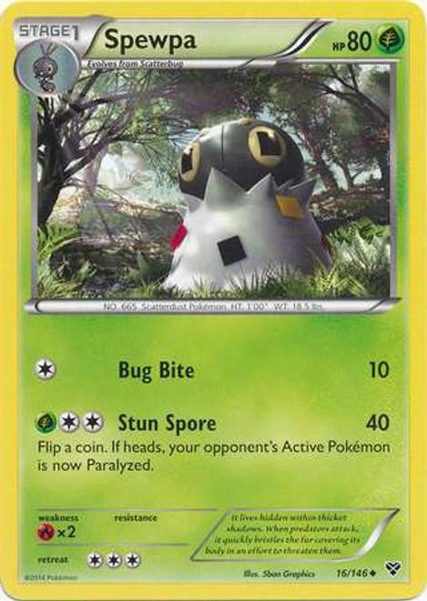 Pokemon Trading Card Game XY Base Set Uncommon Spewpa #16