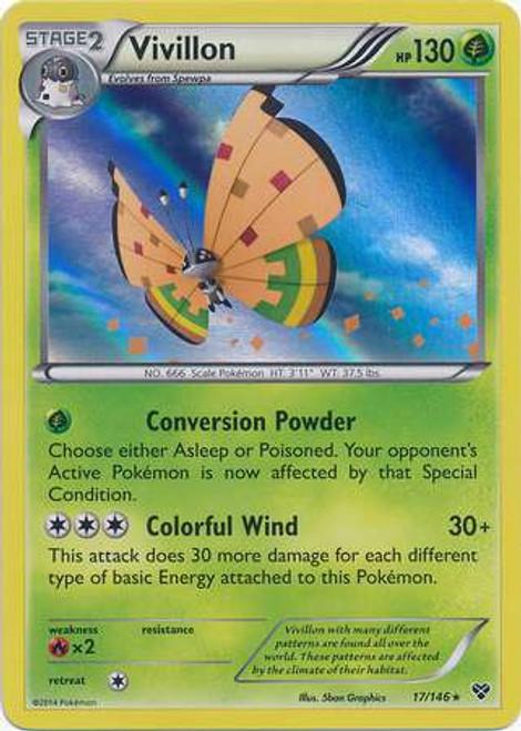 Pokemon Trading Card Game XY Base Set Rare Holo Vivillon #17 [Orange]