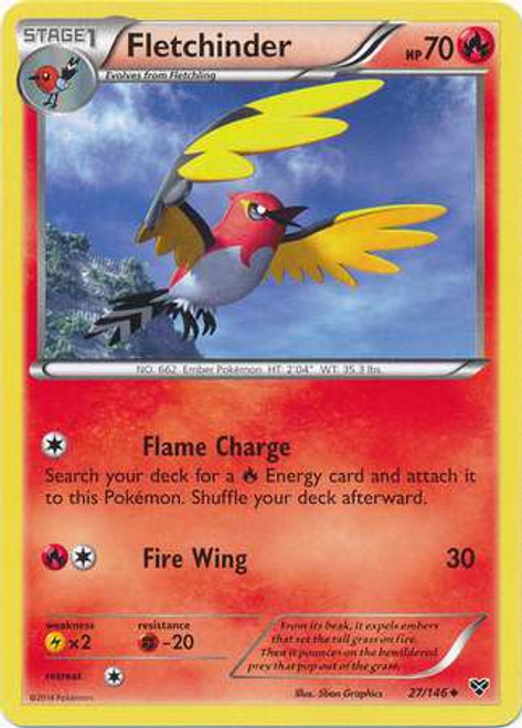Pokemon Trading Card Game XY Base Set Uncommon Fletchinder #27