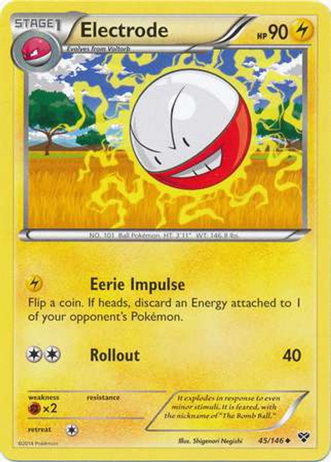 Pokemon Trading Card Game XY Base Set Uncommon Electrode #45
