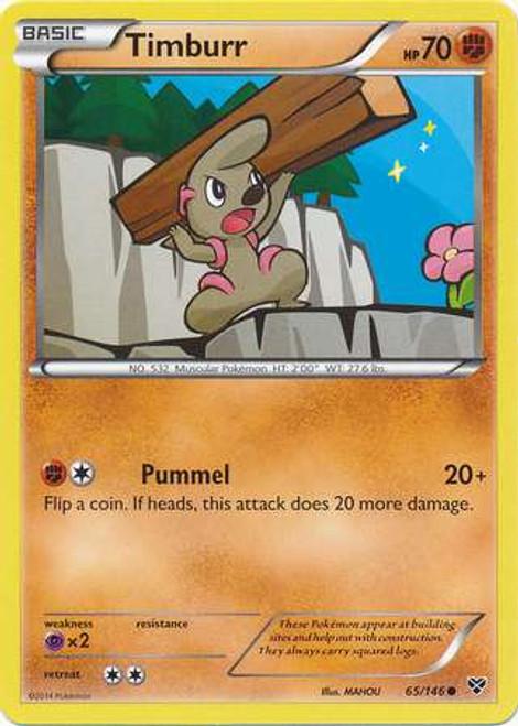 Pokemon Trading Card Game XY Base Set Common Timburr #65