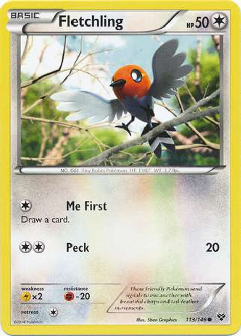 Pokemon Trading Card Game XY Base Set Common Fletchling #113