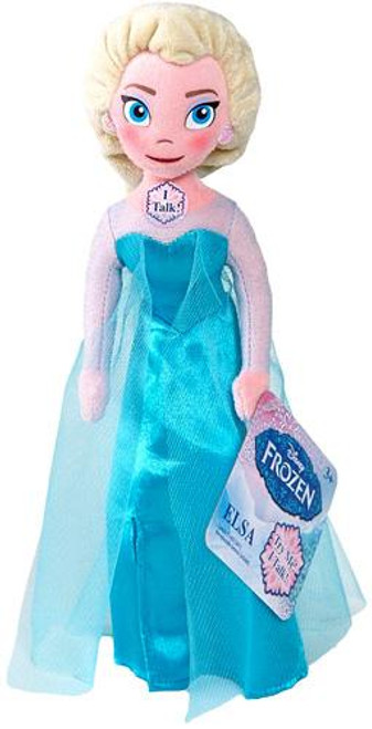 Disney Frozen Talking Bean Bag Elsa 8-Inch Plush Doll