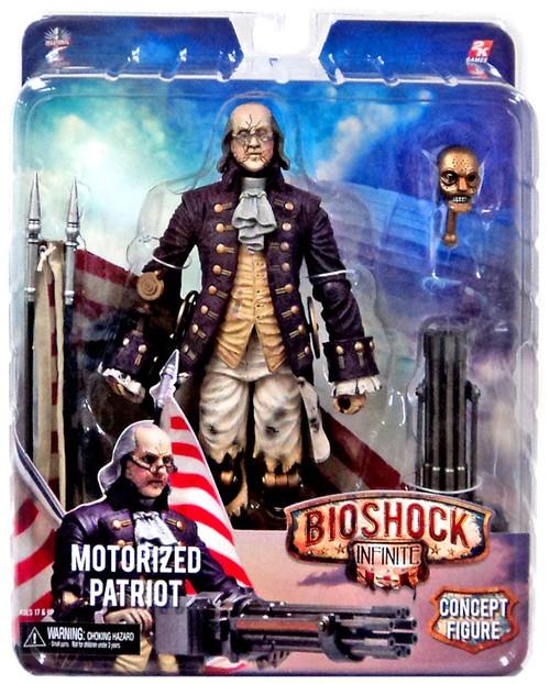 NECA Bioshock Infinite Motorized Patriot Benjamin Franklin Action Figure