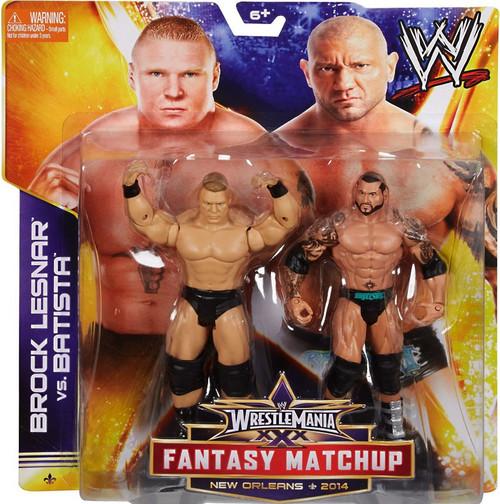 WWE Wrestling Battle Pack Fantasy Matchup Brock Lesnar vs. Batista Action Figure 2-Pack