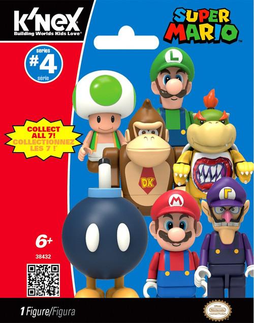 K'NEX Super Mario Series 4 Mystery Pack #38432 [1 RANDOM Figure!]