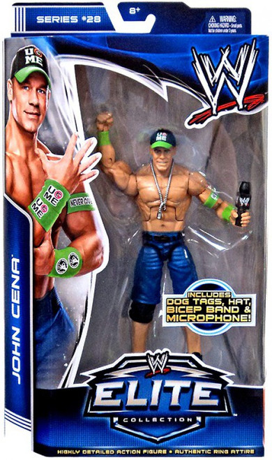WWE Wrestling Elite Collection Series 28 John Cena Action Figure [Dog Tags, Hat, Bicep Band & Mic]