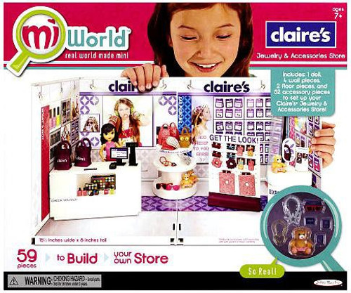 MiWorld Claire's Jewelry & Accessories Store Figure Playset