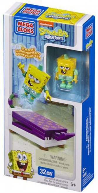 Mega Bloks Spongebob Squarepants Wacky Packs SpongeBob Wacky Pack Set #94628