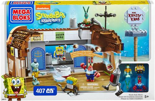 Mega Bloks Spongebob Squarepants Krusty Krab Attack Set #94613