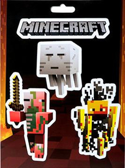 Minecraft Mobs Nether Sticker Pack