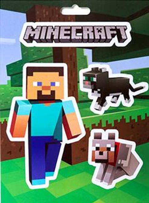 Minecraft Steve Pets Sticker Pack