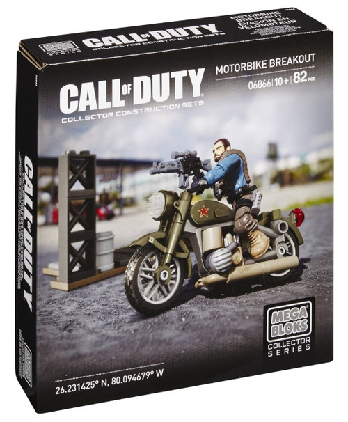 Mega Bloks Call of Duty Motorbike Breakout Set #06866
