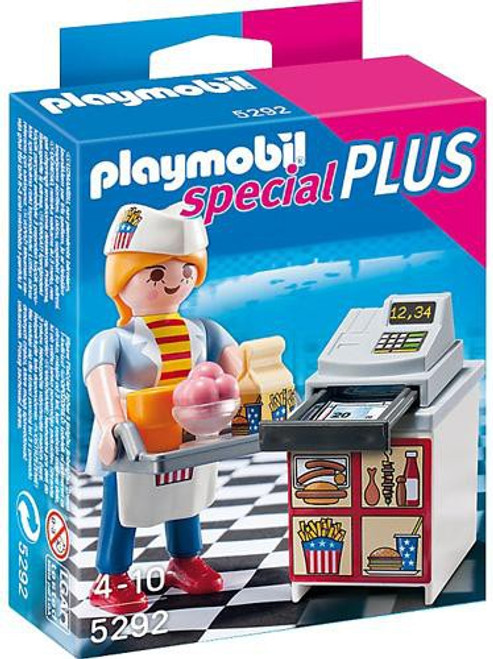Playmobil Special Plus Waitress with Cash Register Set #5292