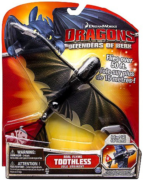 How to Train Your Dragon Defenders of Berk Real Flying Toothless Action Figure