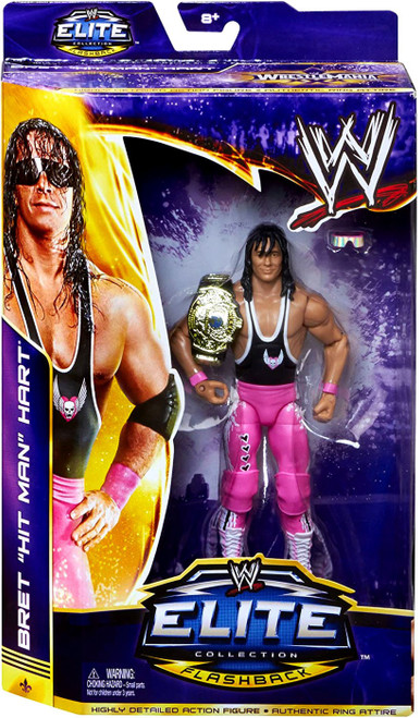 "WWE Wrestling Elite Collection Flashback Bret ""Hit Man"" Hart Action Figure"