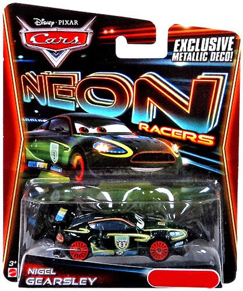 Disney / Pixar Cars Neon Racers Nigel Gearsley Exclusive Diecast Car [Metallic Deco]