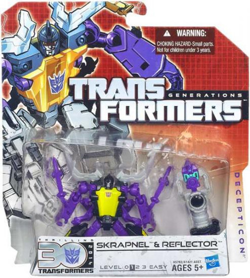 Transformers Generations 30th Anniversary Legends Skrapnel & Reflector Legend Action Figure 2-Pack