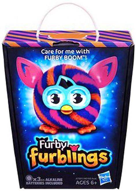 Furby Furblings Orange & Blue Diagonal Stripes Figure